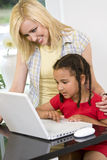 Family Learning Fun Stock Images