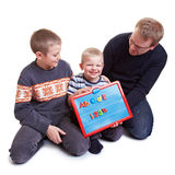 Family learning together Royalty Free Stock Image