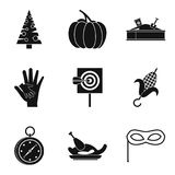 Family legend icons set, simple style. Family legend icons set. Simple set of 9 family legend vector icons for web isolated on white background Stock Image