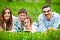 Family at leisure Stock Image