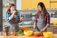 Family leisure cooking hobby special flavor royalty free stock photo
