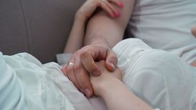 Family love communication touch marriage happiness. Family leisure. couple love cuddle affection communication. holding hands. gentle touch emotion. marriage stock video footage