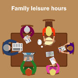 Family Leisure Hours Stock Images
