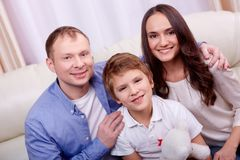 Family at leisure Royalty Free Stock Images