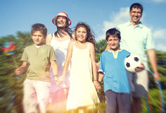 Family Leisure Summer Vacation Holiday Happiness Concept.  Stock Photo