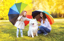 Family, leisure, weather and people concept - mother with child Royalty Free Stock Photo