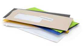 Family letter mails Royalty Free Stock Photography