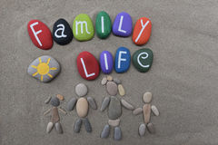 Family life concept on stones Stock Images