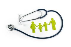Family life and health insurance concept royalty free stock photography