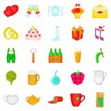 Family life icons set, cartoon style. Family life icons set. Cartoon set of 25 family life vector icons for web isolated on white background Royalty Free Stock Images
