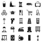 Family life icons set, simple style Royalty Free Stock Image