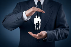 Family life insurance and policy Stock Photos