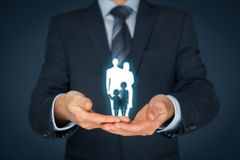 Family life insurance and policy Stock Photo