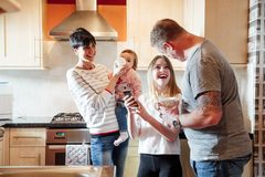 Family Life in the Kitchen royalty free stock photography