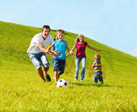 Family lifestyle. Young and happy family lifestyle royalty free stock image
