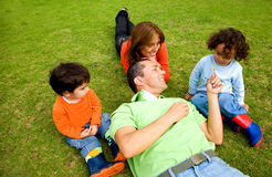 Family lifestyle outdoors Stock Photography