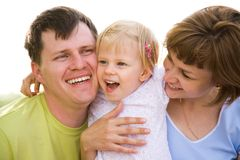 Family lifestyle portrait Royalty Free Stock Image