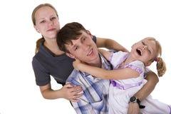 Family lifestyle portrait Royalty Free Stock Photos