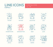 Family - line design icons set Stock Photos