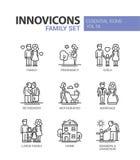 Family - line design icons set Stock Photo