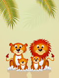 Family of lions. Illustration of family of lions Stock Images