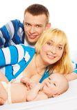 Family with little baby boy Stock Images