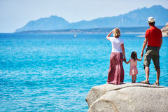 Family with little child on sea vacation Royalty Free Stock Images