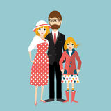 Family with little daughter. Man and woman in love, relationship. Stock Image