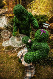 Family of live bushes. Outdoor fairy tale style photo. Stock Photo