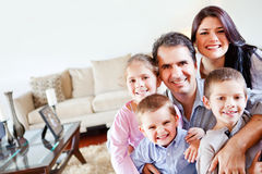 Family in the living room Stock Image