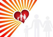 Family logo. Illustration art family logo with isolated background Royalty Free Stock Image
