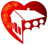 Family logo. Isolated line art family logo design Royalty Free Stock Photography