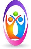 Family logo. Illustration of family logo design isolated on white background Royalty Free Stock Photo