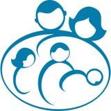 Family Logo. Artistic image of a family logo Stock Photo