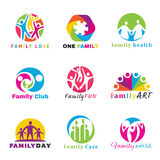 Family logo circle art vector set design Stock Photography