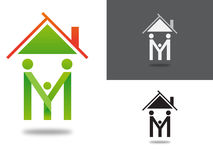 House Logo /  family illustration Royalty Free Stock Image