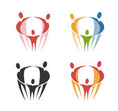 Family logo. Health, vector symbol or icon Stock Images