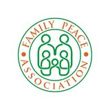 Family Logo with Line Vector. A large family symbol made up of vector lines, is in the center of writing, and can be used for large families, social groups and Stock Image