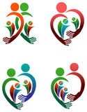 Family logo set. Abstract isolated illustrated family logo set Royalty Free Stock Photos