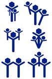 Family logo set. Abstract isolated line art family logo set Royalty Free Stock Photo
