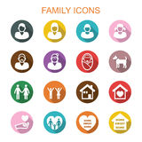 Family long shadow icons Royalty Free Stock Photos