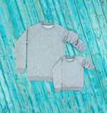 Family look sweaters front view Stock Image