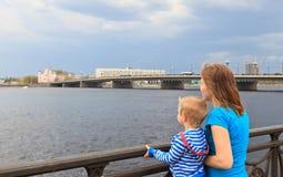 Family looking at Riga Stock Photos