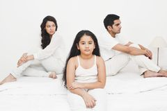 Family looking sad Stock Photos