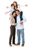 Family looking very happy Royalty Free Stock Photo