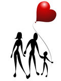 Family love. Vector illustration of one happy family stock illustration