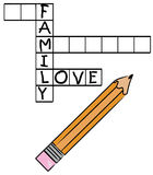 Family love crossword Royalty Free Stock Image