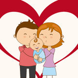 Family love Stock Images