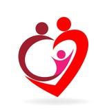 Family love heart Royalty Free Stock Photography