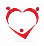 Family love heart shape vector illustration